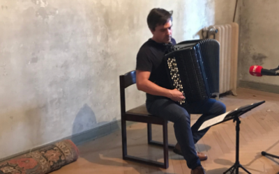 THE ACCORDION OF IÑAKI ALBERDI SOUNDS IN THE HOUSE OF NOBEL LAUREATE POET VICENTE ALEIXANDRE